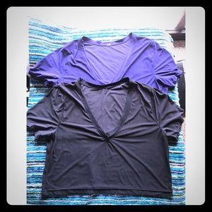 Purple & Black lululemon tees (12) price for both
